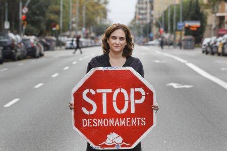 Ada Colau, portavoz de la Plataforma de Afectados por la Hipoteca (PAH) Fuente: http://desdefontetas.wordpress.com