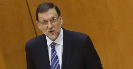 Rajoy, durante la comparecencia. Fuente: zetaestaticos.com