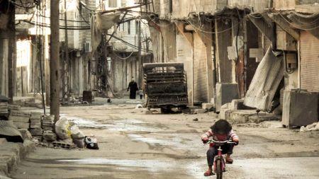 Calle cualquiera durante el conflicto sirio. Fuente: teinteresa.es