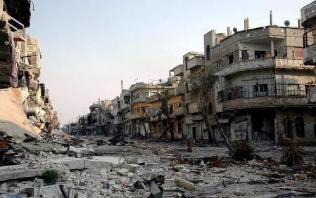 Calles devastadas por los enfrentamientos. Fuente: 2.bp.blogspot.com/