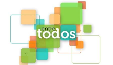 """Logo del programa """"Entre todos"""". Fuente: telelocura.com"""