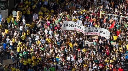 Manifestaciones contra la implantación de la ley