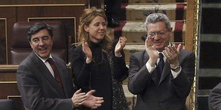 Gallardón aplaude la aprobación de la propuesta sobre la Ley del Aborto. Foto: CadenaSer