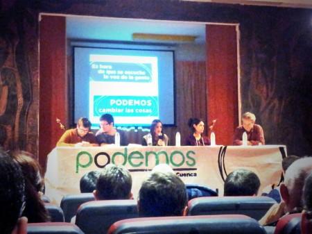 De izqda a derecha: Miguel urbán, Diego Pacheco, Julia Velázquez, Isabel Serra y Germán Cano. Foto: Beni Díaz