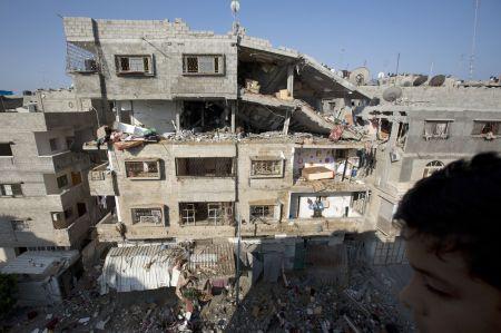 Gaza tras los bombardeos. NuevaRepública