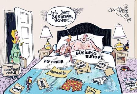 Caricatura sobre el TTIP