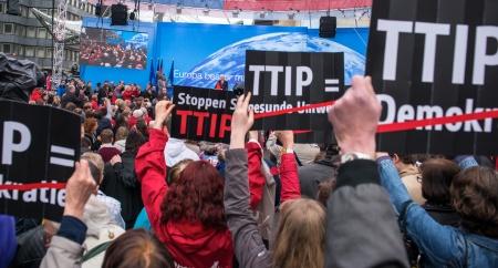Manifestación contra el TTIP en Alemania