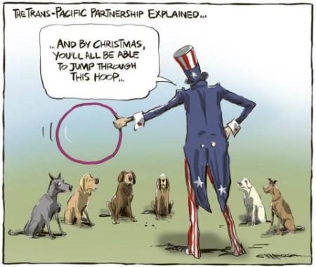 Viñeta sobre el TTIP