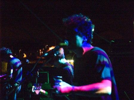 Rodrigo Caamaño durante el concierto