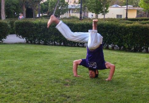 Héctor Martínez, capoeirista